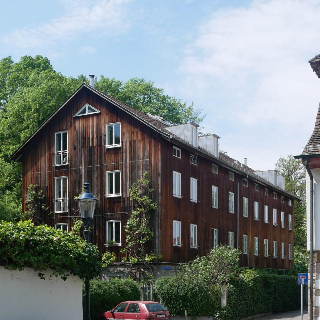 Wohnhaus im St, Alban-Tal von Michael Alder erbaut 1987 © Architektur Basel
