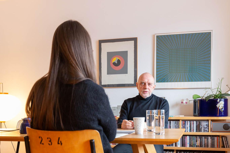 """Bruno Trinkler """"Ich wusste nie genau, hasst er mich oder liebt er mich. Es war extrem."""" © Armin Schärer / Architektur Basel"""