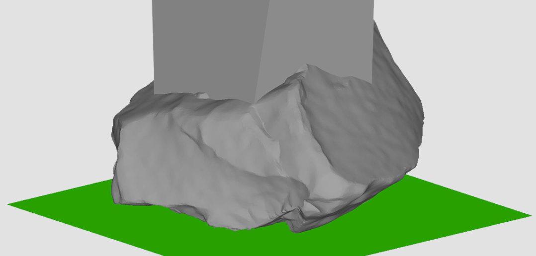 3D Scan zum erfassen der Volumetrie © Jermann Ingenieure + Geometer AG