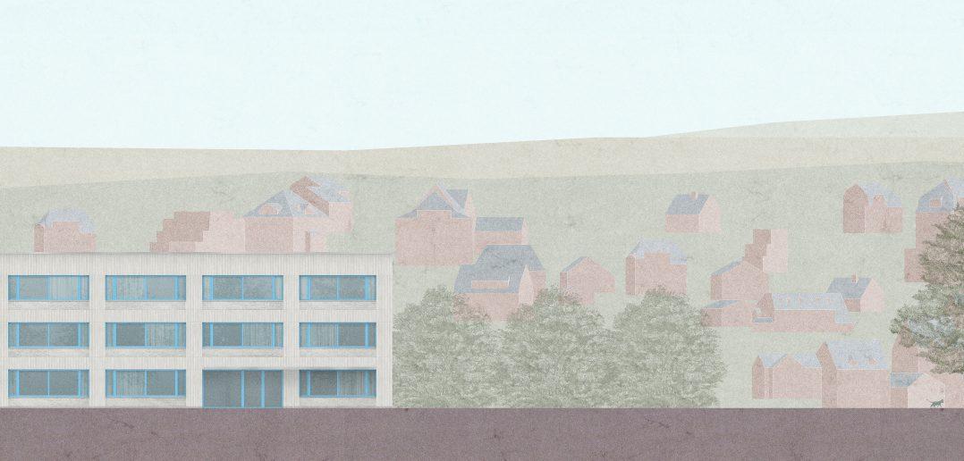 """""""Ein Haus im Ensemble von Gebautem und Landschaft"""" © Weyell Zipse Architekten & Hörner"""