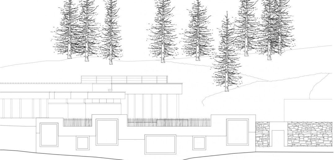 Waldhaus Spa: Ansicht Nordwest © Miller & Maranta