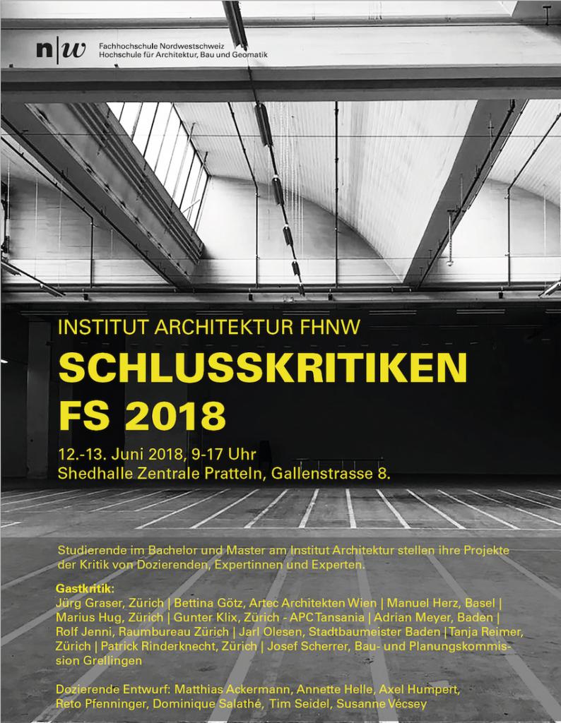 Schlusskritiken architektur fhnw 12 13 juni 2018 - Architektur basel ...