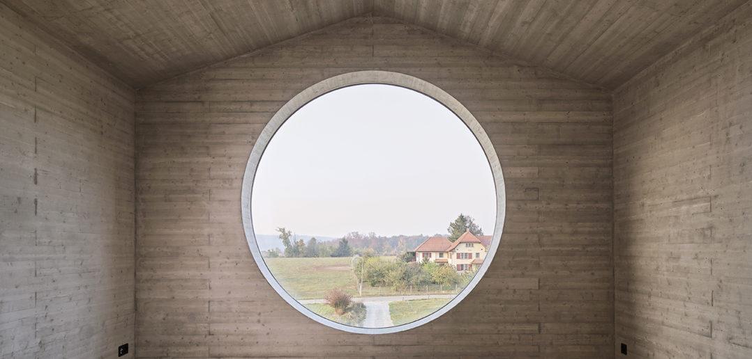 Rundfenster OG, Wohnhaus W, Seltisberg © Mark Niedermann Photography