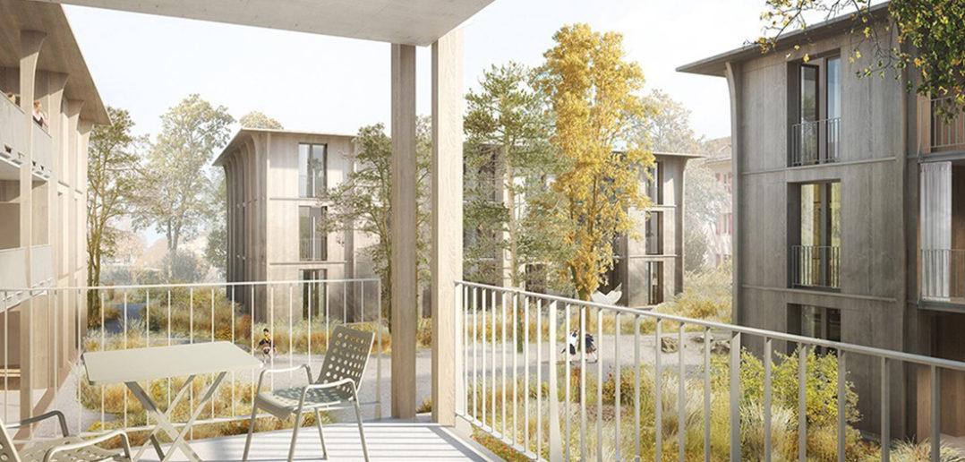 Wohnbebauung Hirtenweg in Riehen © Harry Gugger Studio
