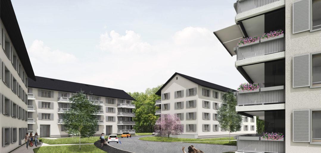 Visualisierung Ersatzneubauten am Eidgenossenweg © Ferrara Architekten