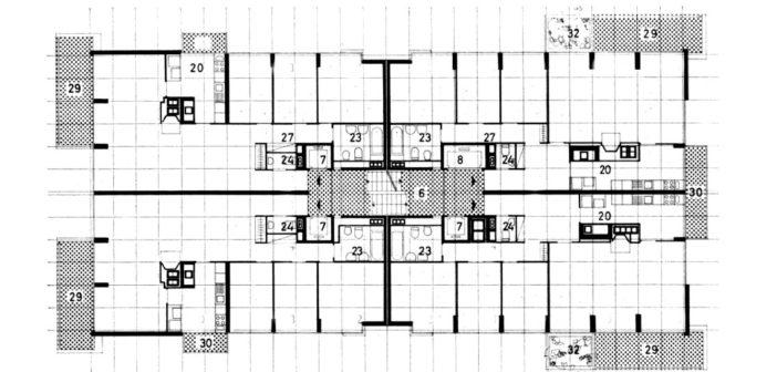 Wohnhochhaus St. Alban-Anlage 25 von Werner Gantenbein und Christoph E. Hoffmann