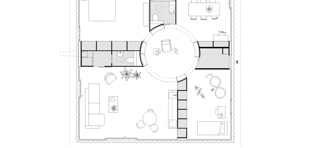 Grundriss © Rahbaran Hürzeler Architekten