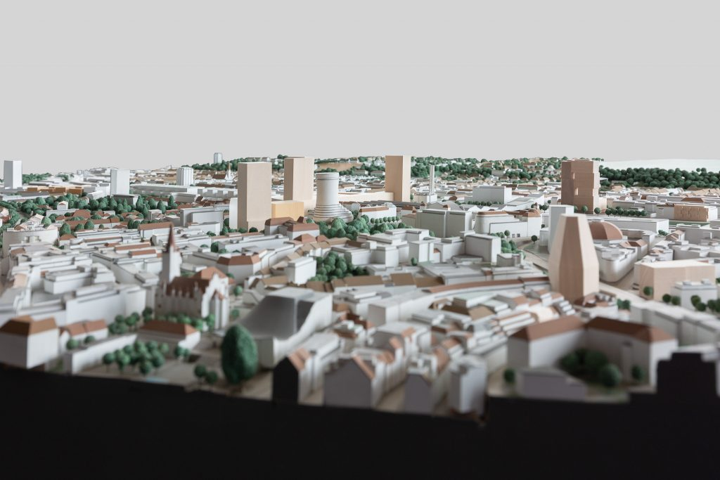 Nauentor im Stadtmodell © Architektur Basel