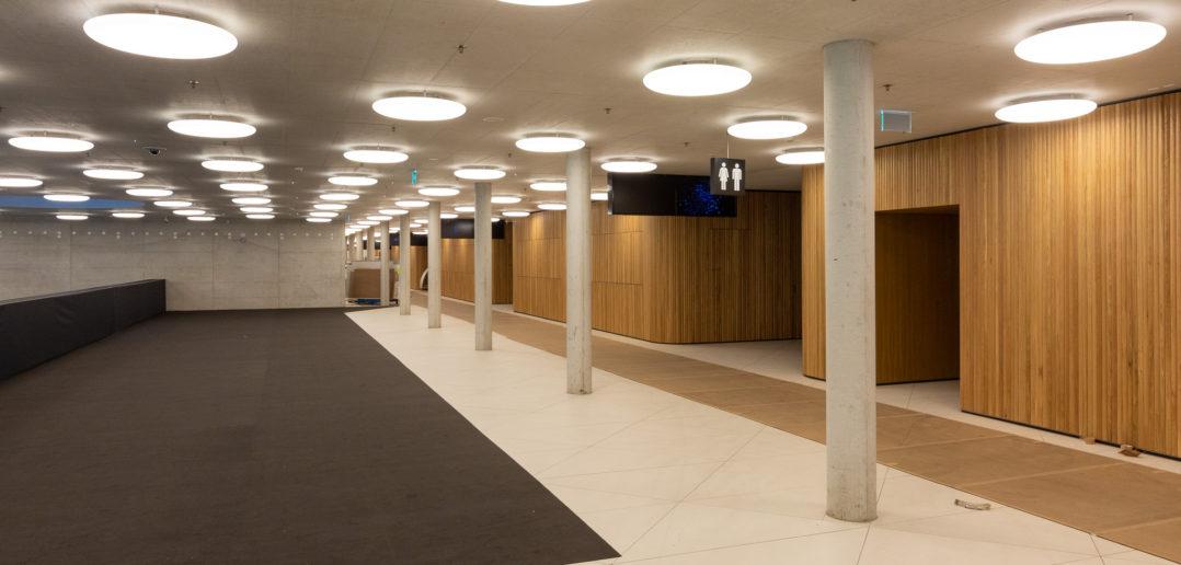 St.Jakobshalle von Berrel Berrel Kräutler und Degelo Architekten, 2018 © Architektur Basel / A. Schärer
