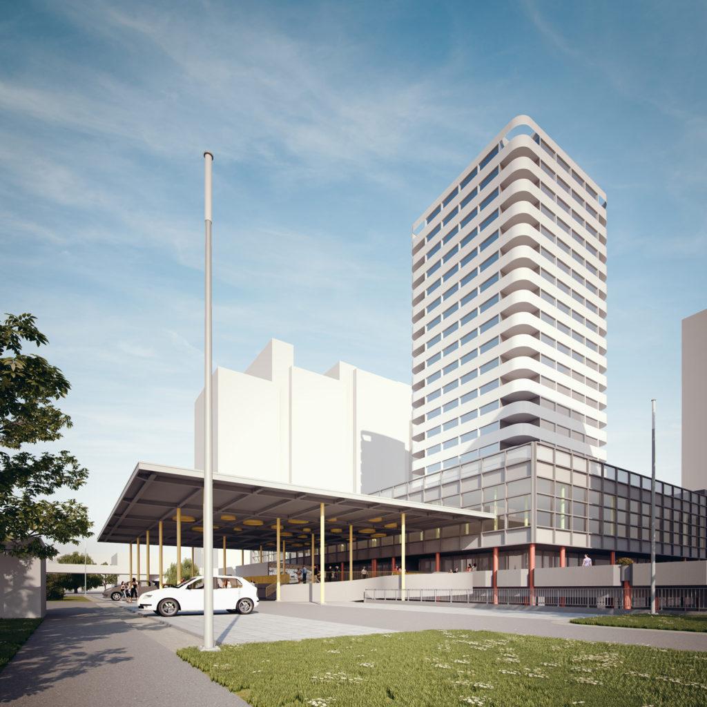 Visualisierung Hochhaus © Liebrüti Domus