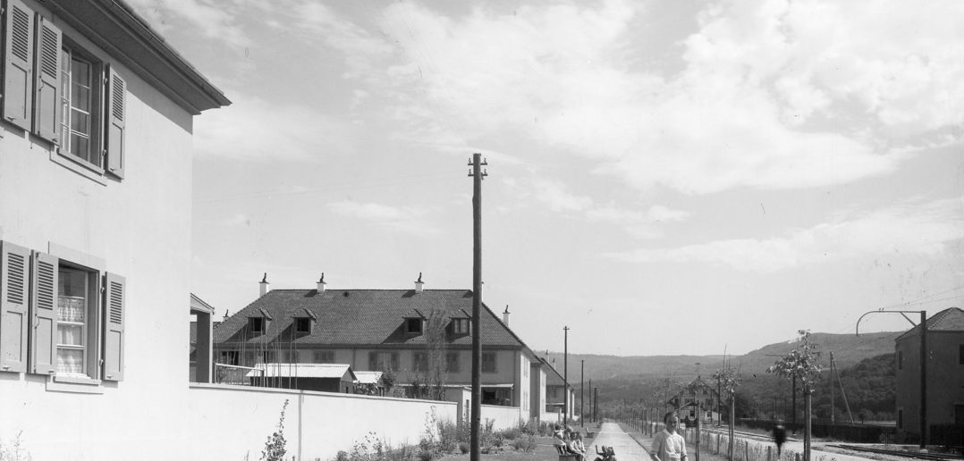 Die St. Jakobs-Strasse anno 1921 © Siedlungsgenossenschaft Freidorf