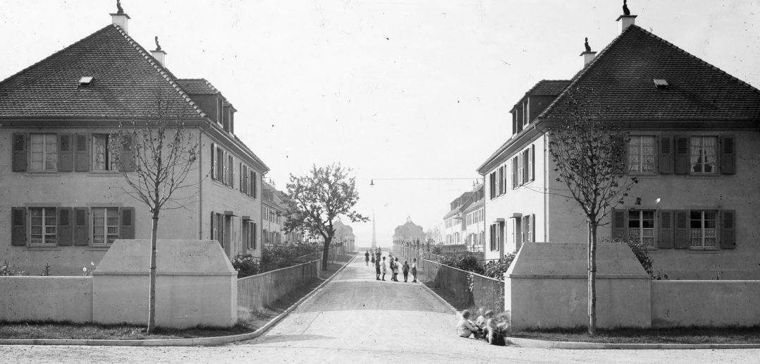 Blick in eine Wohnstrasse © Siedlungsgenossenschaft Freidorf