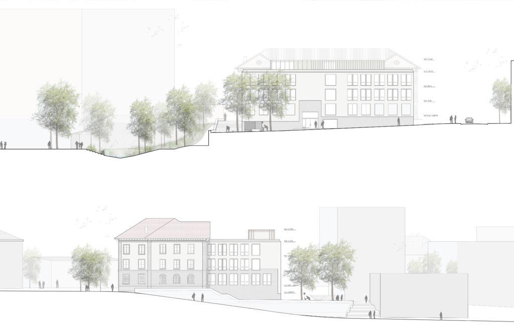 oben: Nordfassade, unten: Ostfassade / «A few good rooms» © Schmid Schärer Architekten ETH SIA, Zürich