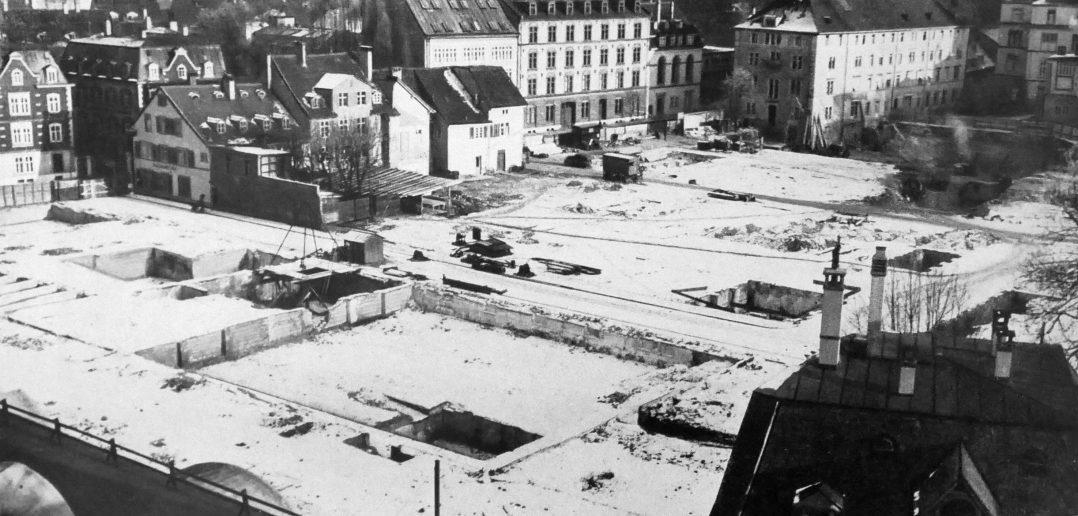 Abbrucharbeiten und Aushub Januar 1940 © Paul Butscher