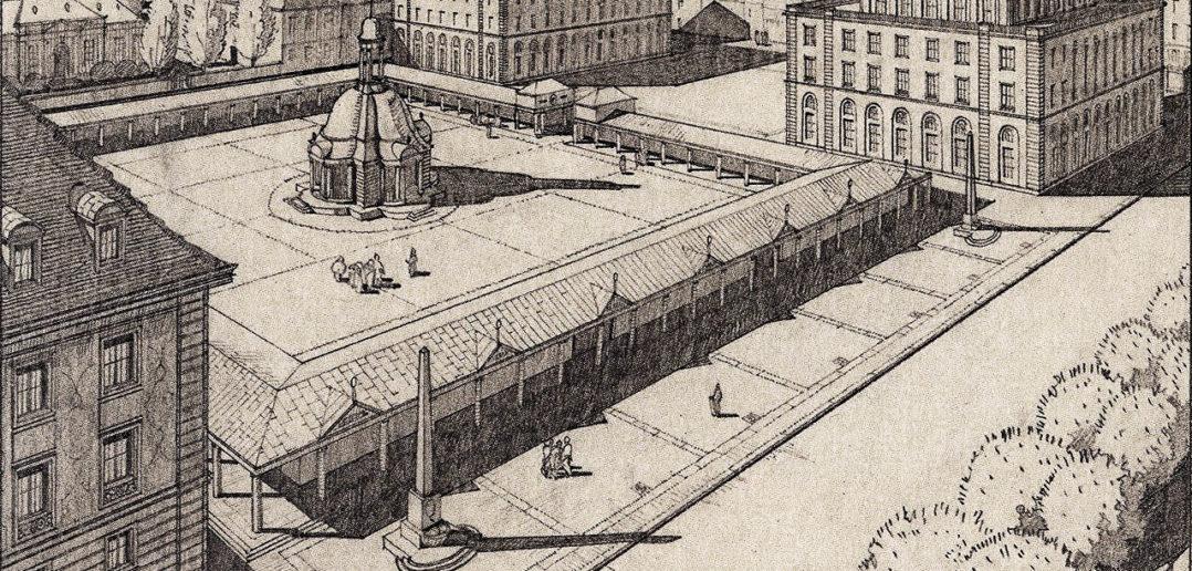 """Bernoullis Beitrag zum Wettbewerb für das Areal """"Alter Badischer Bahnhof"""" in Basel, 1914/15 © gta Archiv ETH Zürich"""