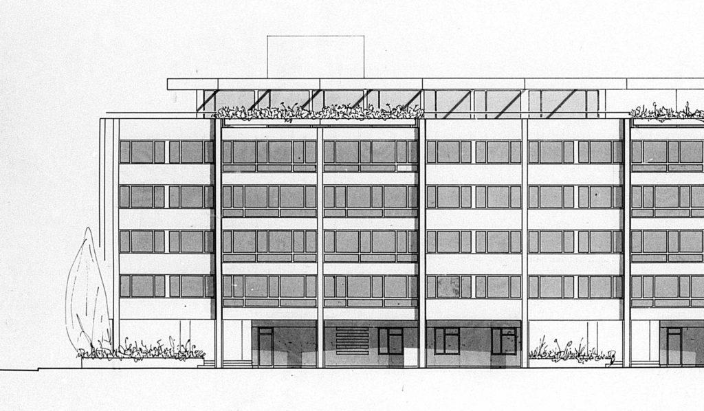 Ausschnitt Fassade Lindenstrasse Wohnhaus Lindenstrasse von Burckhardt+Partner © Architektur Basel