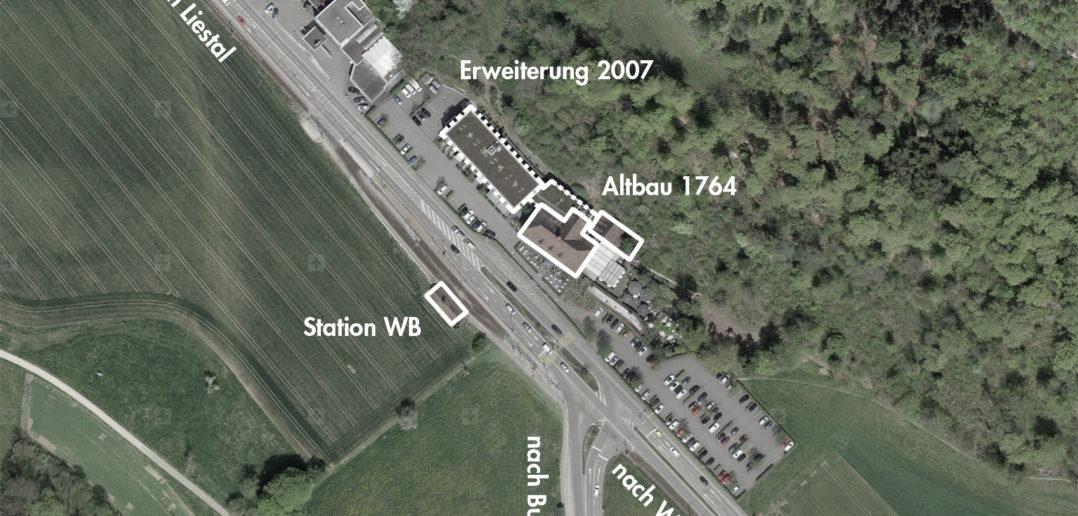 Bad Bubendorf, Bubendorf (bearbeitet), Grundlagen Luftbild © Bundesamt für Landestopografie swisstopo