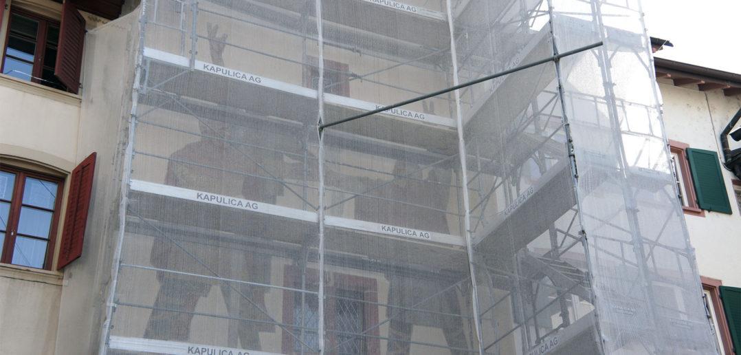 Renovationsarbeiten am Törli, April 2018 © Architektur Basel