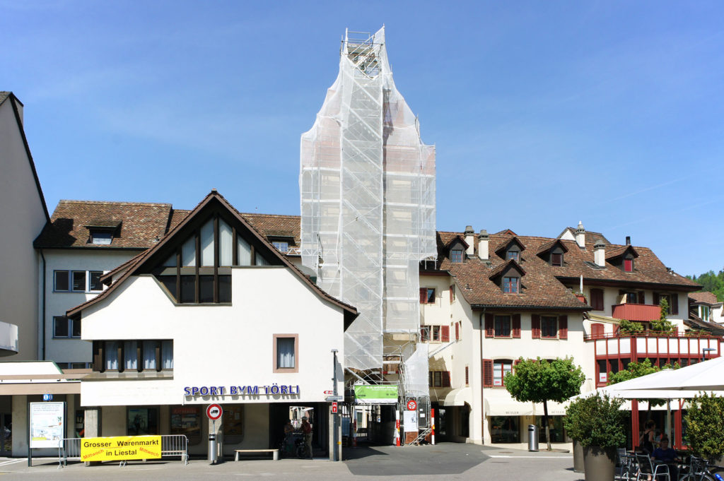 Renovationsarbeiten am Törli, April 2018 © Architektur Basel