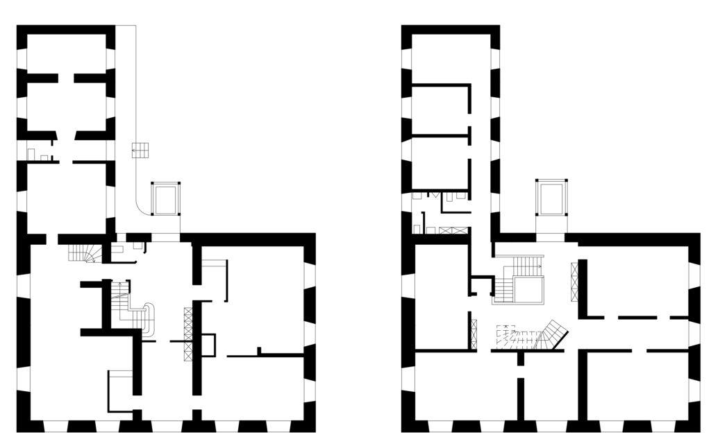 Grundrisse des Erdgeschosses und des 1. Obergeschosses © Samuel Borer