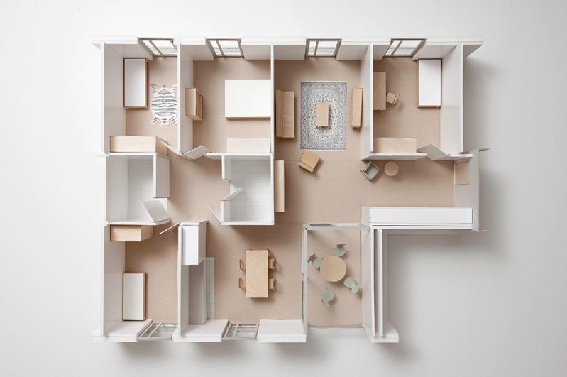 Wohnungsmodell © Esch Sintzel Architekten