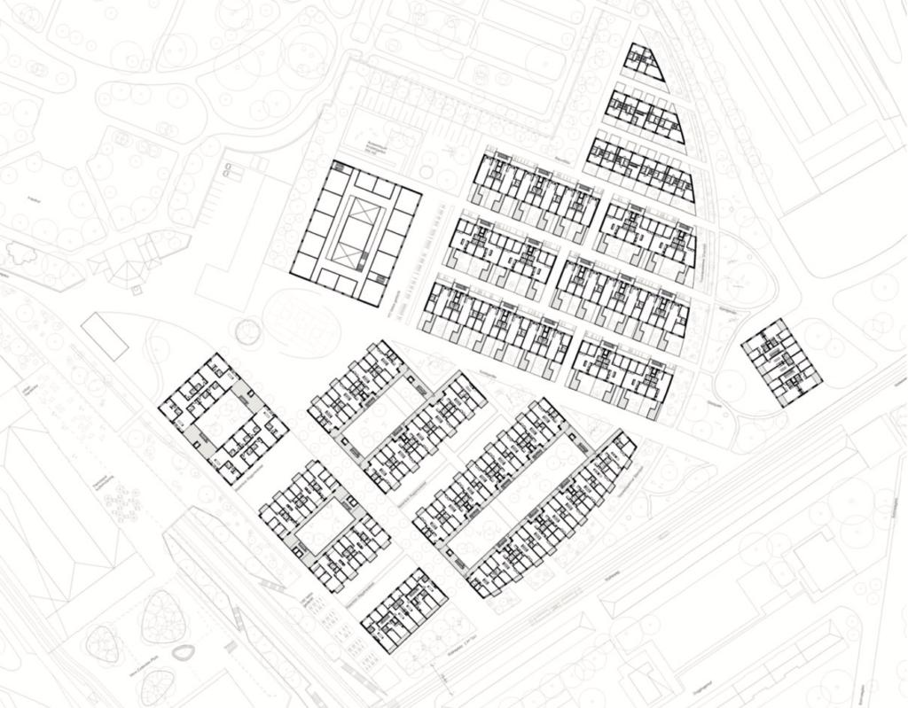 Grundriss Am Walkeweg © Camponovo Baumgratner Architekten