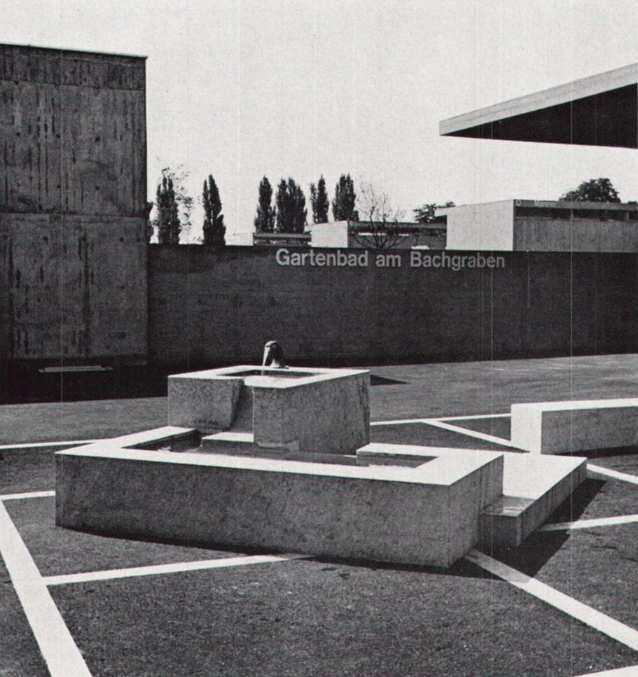Gartenbad Bachgraben in Basel (1961/1962) von Otto Senn © P.+ E. Merkle, Basel