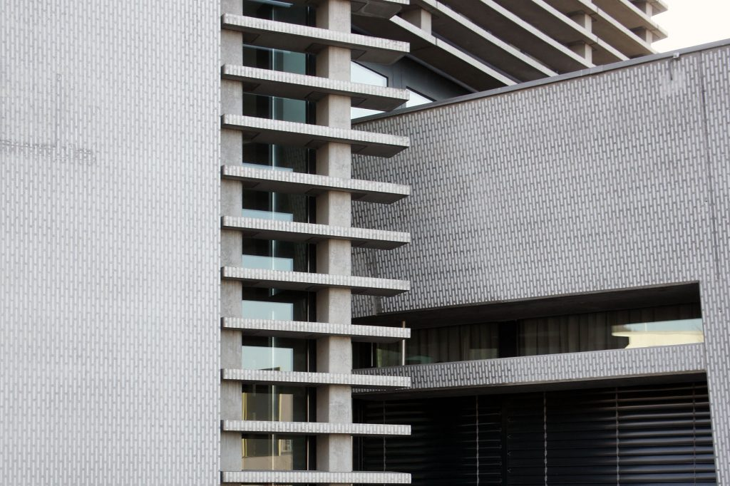 Büro- und Wohnhochhaus, Feine Neuinterpretation der Fassade, Muttenz © Architektur Basel