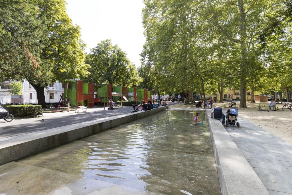 Neugestaltung Claramatte © Hochbauamt Basel-Stadt