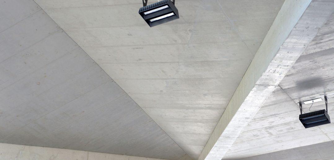 Zoll Basel Burgfelden, Untersicht des gefalteten Dachs © Architektur Basel