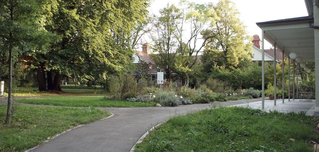 Burgfeldenpark, Garten UPK mit Durchblick © Architektur Basel
