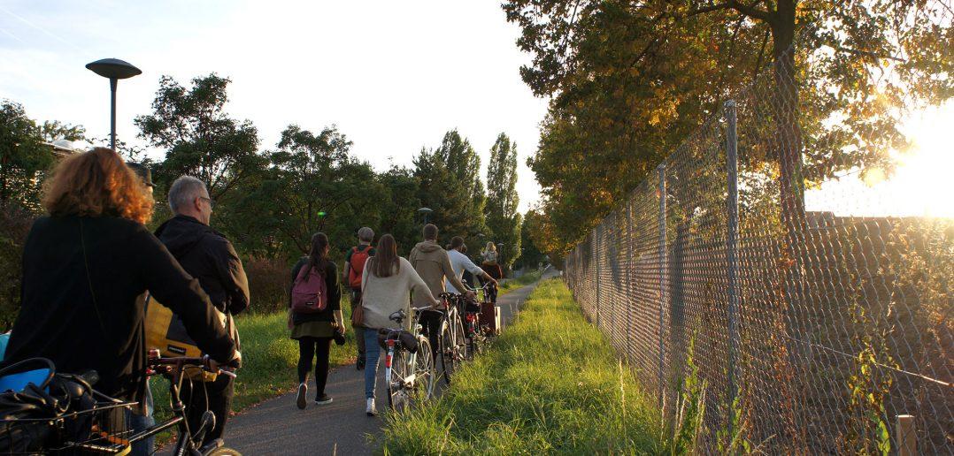 Burgfeldenpark, noch bestehender Grenzzaun © Architektur Basel