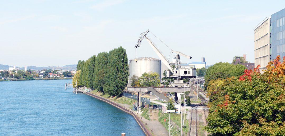 Der neue Hafenkran © Architektur Basel