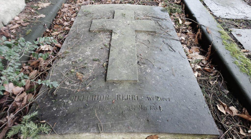 Das Grab von Melchior Berri im Kirchhof St. Alban © Architektur Basel