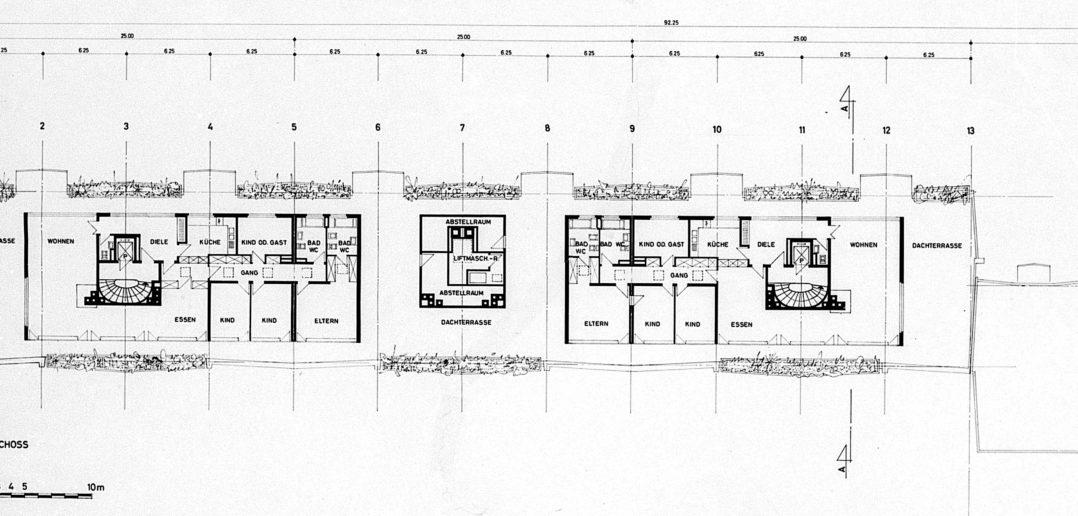 Dachgeschoss Wohnhaus Lindenstrasse von Burckhardt+Partner © Architektur Basel