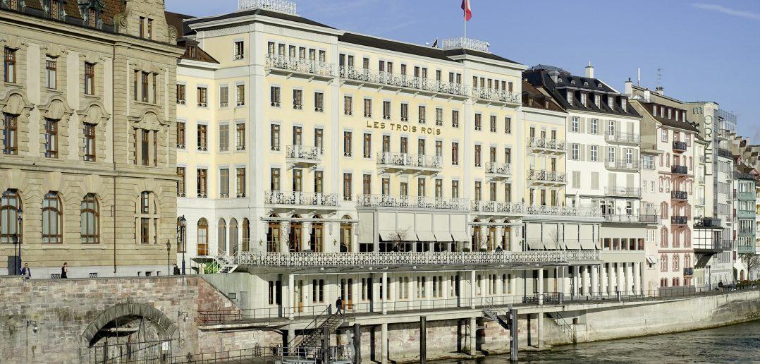 Rheinblick inklusive: Das Grandhotel Les Trois Rois, erbaut 1843/44 nach Plänen von Amadeus Merian. Foto: Kantonale Denkmalpflege Basel-Stadt, Klaus Spechtenhauser