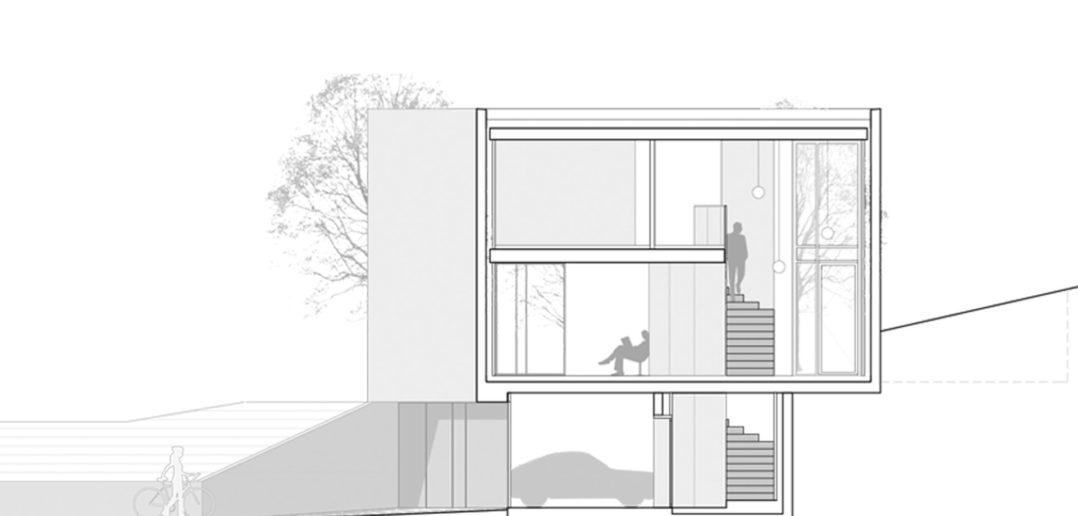 Schnitt, EFH Höhenweg, Binningen © Lupo & Zuccarello Architekten AG