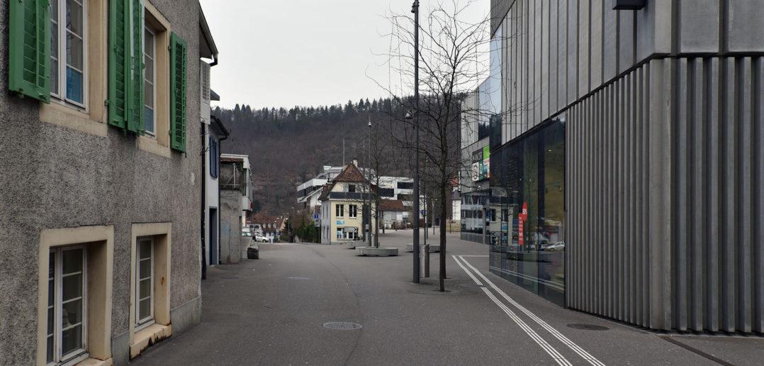 Reibung zwischen Altstadt und Neubau, Bücheli-Center, Liestal © Architektur Basel