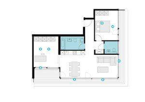 Möblierter Grundriss Rosental Nexxt © Morger Partner Architekten