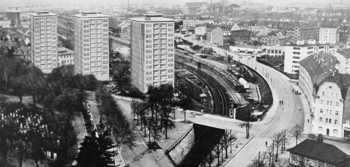 Fotomontage Entenweid-Hochhäuser © Staatsarchiv Basel