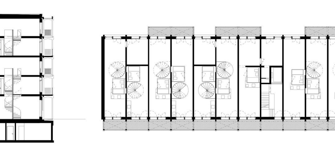Neubau Goldbachweg 12 + 14 © Atelier Abraha Achermann Architekten ETH SIA