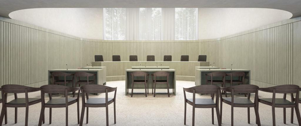 Stimmungsvoller Gerichtssaal / «FIDELIO» © Nightnurse Images GmbH, Zürich