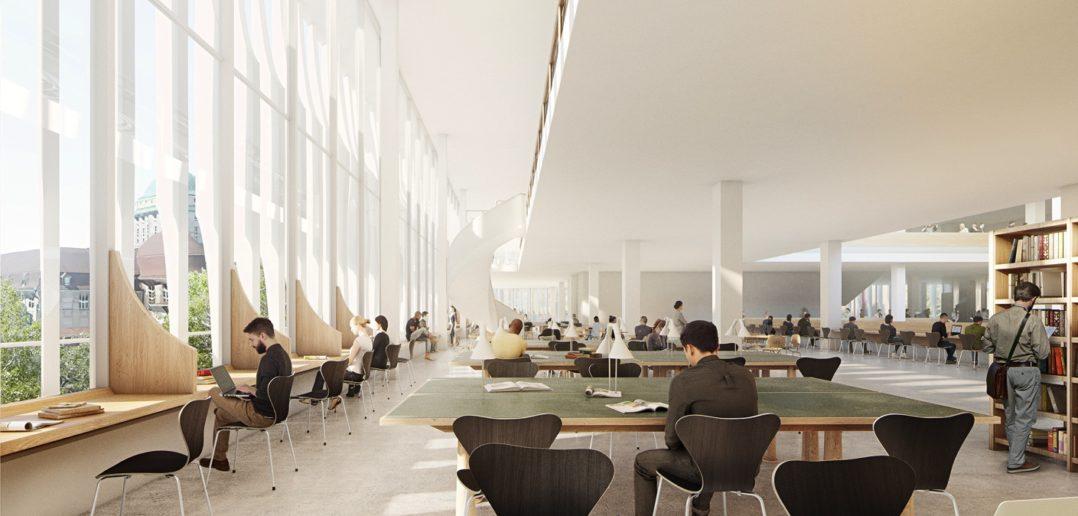 Forum UZH, Blick in die Bibliothek © Herzog & de Meuron