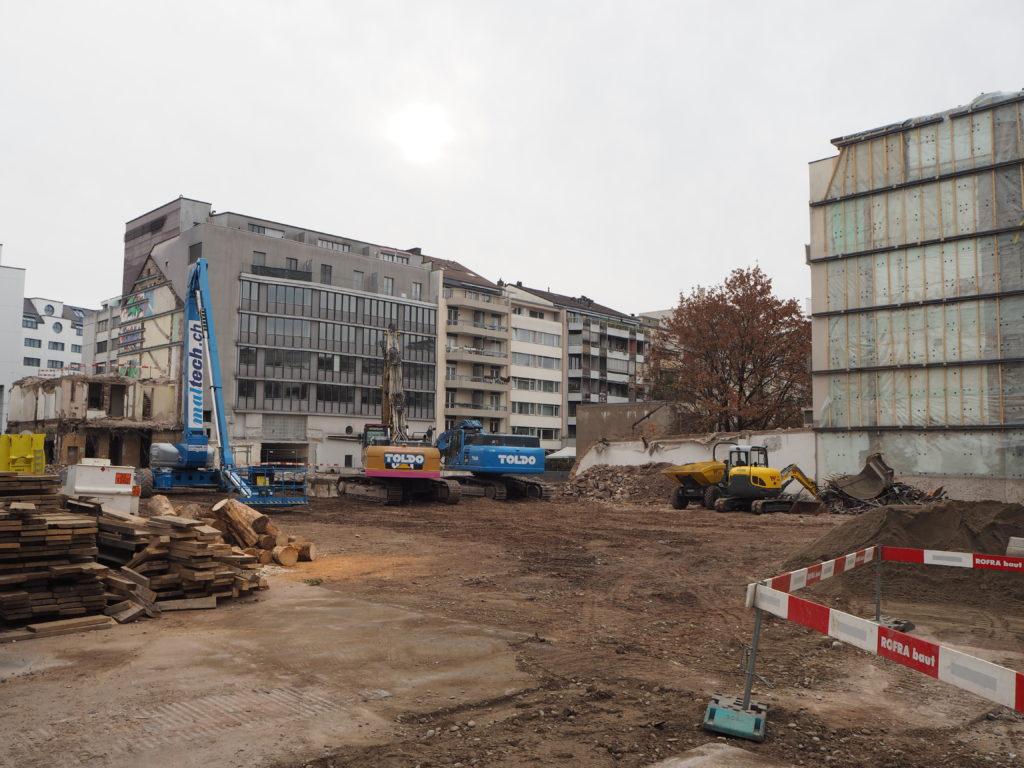 Baustelle Claraturm © Architektur Basel