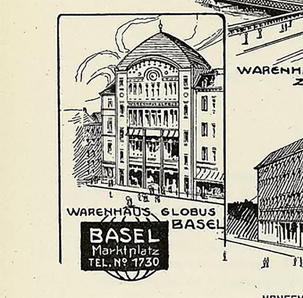 Warenhaus Globus, Geschäftsbericht 1908 © Magazine zum Globus AG
