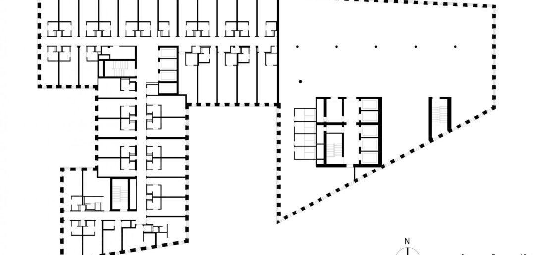 Grundriss 1. OG Grosspeter Tower © Burckhardt+Partner AG