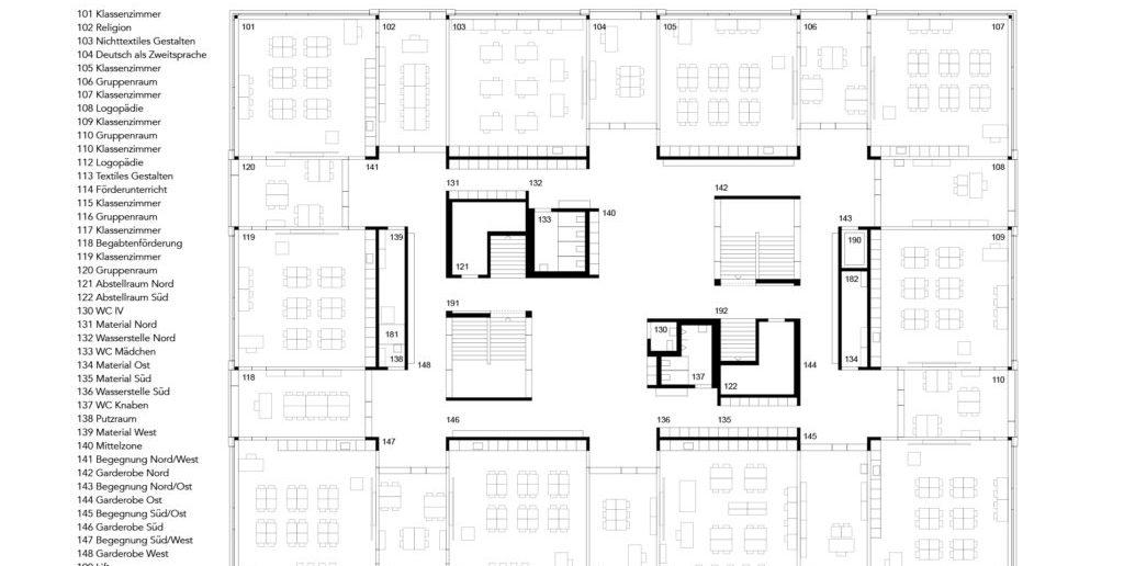 Grundriss 1. OG © Nord Architekten