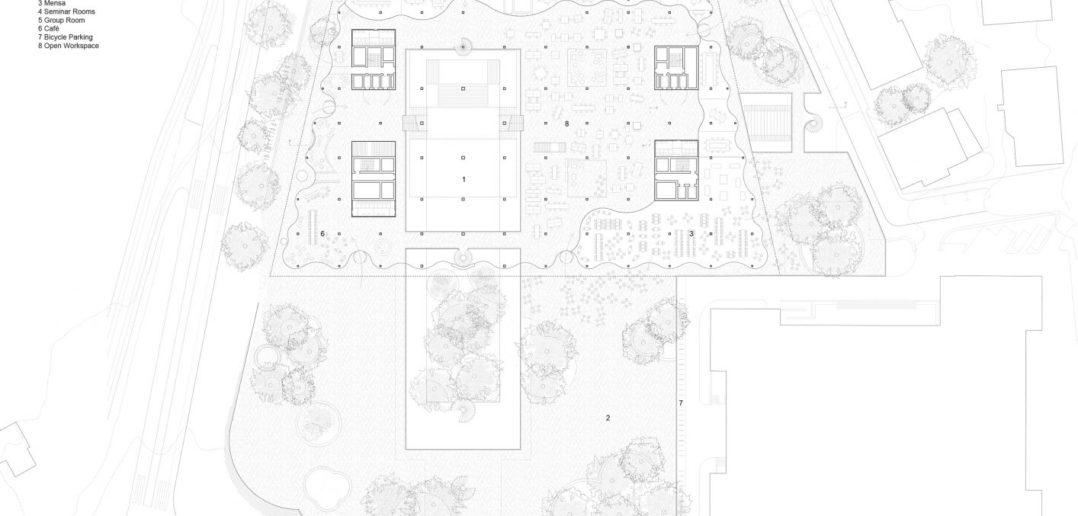 Forum UZH, Grundriss Erdgeschoss © Herzog & de Meuron