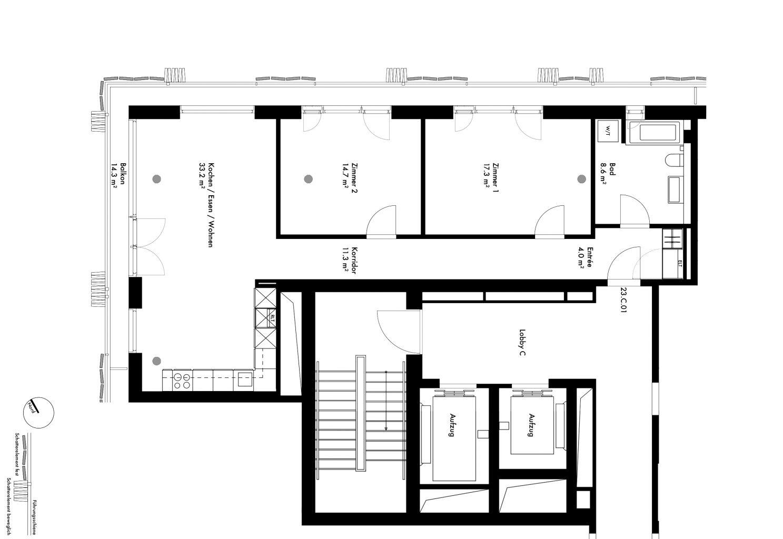 wohnung zu vermieten leicht getr bter ausblick im 23 obergeschoss des moh architekturbasel. Black Bedroom Furniture Sets. Home Design Ideas