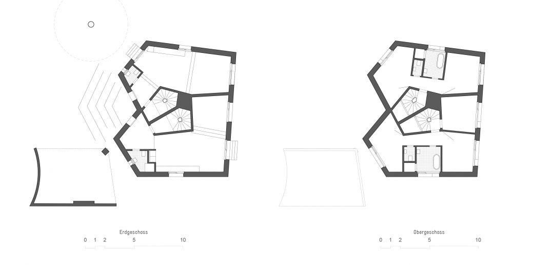 Grundriss Haus Bernardi © Buol & Zünd Architekten